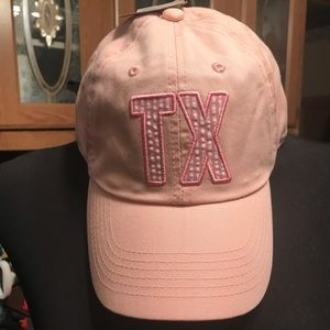 Brand New pink TX Texas hat adjustable back